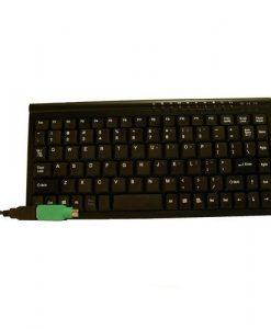 KB-MINIUP-8Ware Mini Keyboard USB & PS2 Black 89 Keys Multimedia keyboard with 10 hot keys