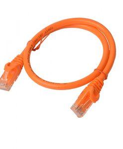 PL6A-0.25ORG-8Ware Cat6a UTP Ethernet Cable 25cm SnaglessOrange