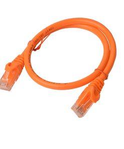 PL6A-0.5ORG-8Ware Cat6a UTP Ethernet Cable 0.5m (50cm) SnaglessOrange