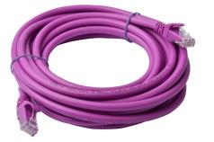 PL6A-5PUR-8Ware Cat6a UTP Ethernet Cable 5m Snagless Purple