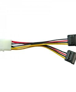 RC-5082-8Ware Molex Power Splitter Cable 15cm 1 x Molex Female to 2 x SATA III 15-Pin