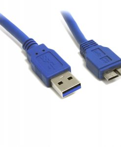 UC-3003AUB-8Ware USB 3.0 Cable 3m A to Micro-USB B Male to Male Blue