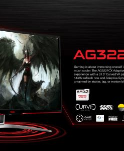 "AG322FCX/75-AOC AGON 31.5"" VA IPS-Type 4ms 144Hz Full HD FreeSync Curved Gaming Monitor - HDMI/DP/DVI/VGA"