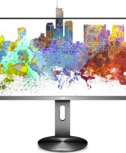 "I2490PXQU/75-AOC 23.8"" IPS 5ms Full HD Frameless Business Monitor w/HAS - VGA/HDMI/DP Speaker VESA100mm USB3 Height Adjustable"