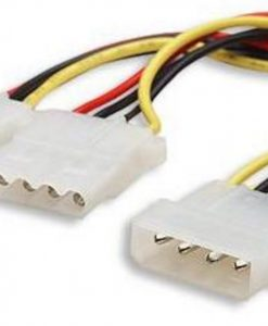 "AT-MOLEX-PWR-Astrotek Internal Power Molex Cable 20cm - 5.25"" 4 pins Male to 2x 5.25"" 4 pins Female 18AWG RoHS"
