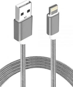 AT-USBLIGHTNINGW-1M-Astrotek 1m USB Lightning Data Sync Charger Grey White Color Cable for iPhone 7S 7 Plus 6S 6 Plus 5 5S iPad Air Mini iPod ~CBAT-USB-IP5