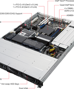 RS300-E9-RS4-ASUS RS300-E9-RS4 1RU Server Barebone