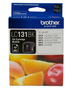 LC-131BK-Brother LC-131BK Black Ink Cartridge - DCP-J152W/J172W/J552DW/J752DW/MFC-J245/J470DW/J475DW/J650DW/J870DW - up to 300 pages