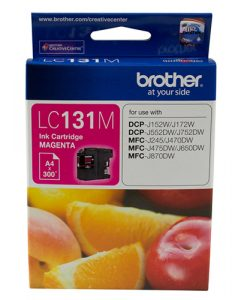 LC-131M-Brother LC-131M Megenta Ink Cartridge - to suit DCP-J152W/J172W/J552DW/J752DW/MFC-J245/J470DW/J475DW/J650DW/J870DW - up to 300 pages