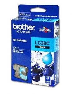 LC-38C-Brother LC-38C Cyan Ink Cartridge- to suit DCP-145C/165C/195C/375CW
