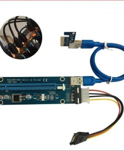 CB-PCIEPWREXTUSB-Astrotek PCI-E PCI Express 16x Adapter Riser Card Extension Power USB 3.0 Internal Cable - Used for mining / BTC / ETH crypto server 008 Version
