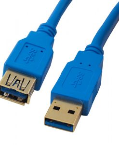 H40USB3AMAF3-Cabac 3m AM-AF Male-Female Blue Colour USB3 Extension Cable