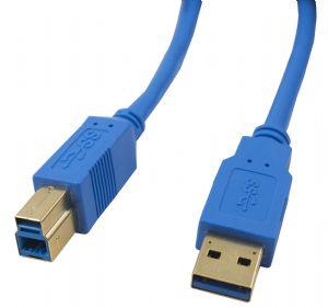 H40USB3AMBM3-Cable 3m USB 3.0 AM-BM Gold/P Blue Cable