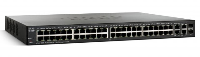 SF300-48PP-K9-AU-Cisco 48-port 10/100 PoE + 4 x Gigabit SFP (2 combo)  L3 Managed Switch (375W)