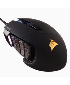 "CH-9304111-AP-Corsair ""SCIMITAR"" PRO RGB Optical MOBA/MMO Gaming Mouse - Black/Silver"