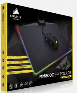 CH-9440021-AP-Corsair MM800C RGB POLARIS CLOTH Edition Mouse Mat. 15 zone RGB LED customizable lighting under your control