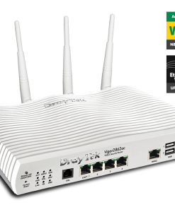 DV2862VAC-Draytek Vigor2862VAC Multi WAN VDSL2/ADSL2+ Gigabit Firewall Router VoIP Wireless AC2000 3G/4G LTE USB 4xGigabit LAN 32xVPN 16xVLAN ~MOD-DV2860VAC