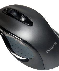 M6800-Gigabyte M6800 Precision Dual Lens USB Optical Gaming Mouse 1600 DPI 3000fps Ergonomic Shape Comfortable Rubber Grips Gaming Grade Feet Pad