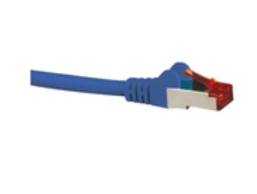 HCAT6ABL0.5-Hypertec CAT6A Shielded Cable 0.5m Blue Color 10GbE RJ45 Ethernet Network LAN S/FTP LSZH Cord 26AWG PVC Jacket