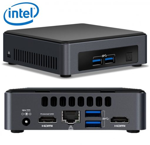 BLKNUC7I7DNK4E-Intel NUC mini PC i7-8650U 4.2GHz 2xDDR4 SODIMM M.2 SSD 2xHDMI 2xDisplays GbE LAN WiFi BT 4xUSB3.0 vPro for DS POS ~SYI-BLKNUC7I7DNH4E