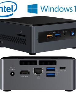 BOXNUC7I3BNHXF-Intel NUC BOXNUC7I3BNHXF mini PC i3-7100U 2.4GHz 4GB 1TB HDD M.2 16GB Optane Windows 10 Home HDMI USB-C (DP1.2) 3xDisplays GbE LAN WiFi BT 4xUSB3.0