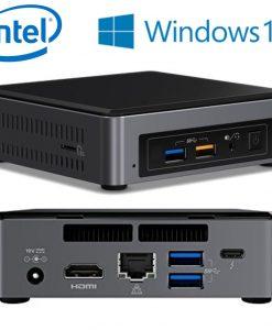 BOXNUC7I7BNKQ-Intel NUC BOXNUC7I7BNKQ mini PC i7-7265U 4.0GHz 16GB 512GB SSD M.2 Windows 10 Home HDMI USB-C (DP1.2) 3xDisplays GbE LAN WiFi BT 4xUSB3 LS