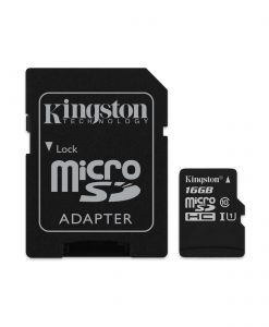 SDCS/16GB-Kingston 16GB MicroSD SDHC SDXC Class10 UHS-I Memory Card 80MB/s Read 10MB/s Write with standard SD adaptor ~FMK-SDC10G2-16 SDC10G2/16GBFR