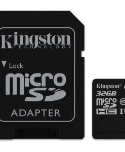 SDCS/32GB-Kingston 32GB MicroSD SDHC SDXC Class10 UHS-I Memory Card 80MB/s Read 10MB/s Write with standard SD adaptor ~SDC10G2/32GBFR FMK-SDC10G2-32