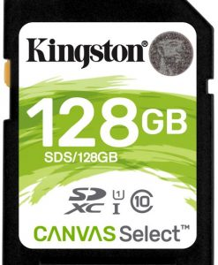SDS/128GB-Kingston 128GB SD Card SDHC/SDXC Class10 UHS-I Flash Memory 80MB/s Read 10MB/s Write Full HD for Photo Video Camera Waterproof Shock Proof
