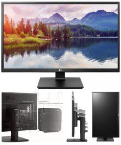 """27BK550Y-B-LG 27"""" IPS 5ms Full HD Business Monitor w/HAS - VGA DVI HDMI DP USB Speakers VESA Height Adjust Stand"""