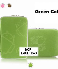 "NAL-T10MOFIGRE-Tablet 10"" MofiZip Case Green Andriod logo. Suit any 10"" tab"