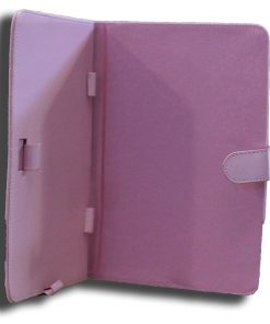 NALT7-CPINK-LeaderTab7 Folio Case Pink Faux Leather. Camera hole rear