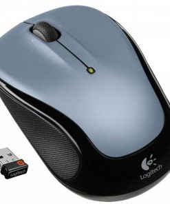 910-002325-Logitech M325 Wireless Mouse Grey Contoured design Glossy Comfort Grip Advanced Optical Tracking 1-year battery life