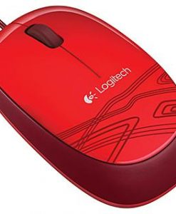 910-002933-Logitech M105 Corded Optical Mouse Red - High-definition optical tracking Full-size comfort Ambidextrous design