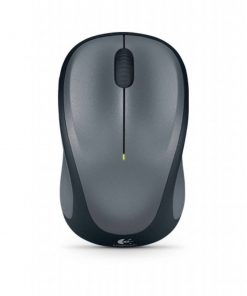 910-003384-Logitech M235 Wireless Mouse Grey Contoured design Glossy Comfort Grip Advanced Optical Tracking 1-year battery life