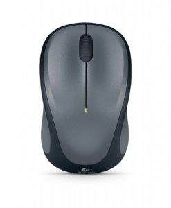 910-003384-Logitech M235 Wireless Mouse Grey Contoured design Glossy Comfort Grip Advanced Optical Tracking 1-year battery life-  910-003384