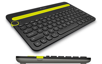920-006380-Logitech K480 Bluetooth Wireless Multi Device Keyboard Black for PC Smartphone Tablet Windows Mac Android iOS - 920-006380