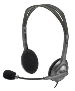 981-000459-Logitech H110 Stereo Headset Over-the-head Headphone 3.5mm Versatile Adjustable Microphone for PC Mac