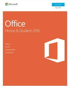 79G-04751-Microsoft Office Home & Student 2016 - No DVD Retail Box