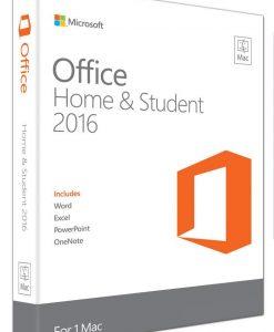 GZA-00984-Microsoft Office Mac Home & Student 2016- No DVD Retail Box