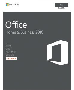 W6F-00921-Microsoft Office Mac Home & Business 2016 - No DVD Retail Box