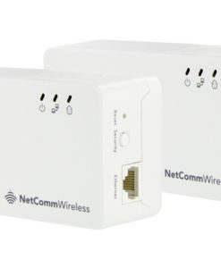 NP511-Netcomm Twinpack AC Powerline AC Pass Through Compact Housin