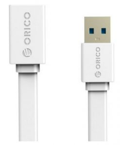 CEF3-10-WH-ORICO 1M USB3.0 AM to AF Flat USB Cable - White