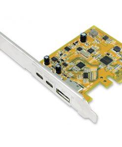UPD2018-Sunix USB 3.1 10G  DisplayPort Alt-Mode PCI Express Host Card with Dual USB Type-C ports