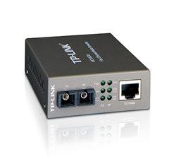 MC100CM-TP-Link MC100CM Media Converter 10/100Mbps RJ45 to 100M multi-mode SC fiber up to 2km chassis mountable