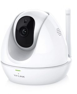 NC450-TP-Link NC450 WiFi Day/Night IP Cloud Camera 300Mbps Wireless 1MP 3.6mm Lens 75° View 30fps Pan Tilt Built-in Mic & Speaker Motion/Sound Detection iOS
