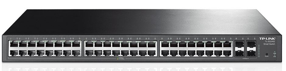 T1600G-52TS(TL-SG2452)-TP-Link T1600G-52TS (TL-SG2452) JetStream 48-Port Gigabit Smart Switch with 4 SFP Slots 104Gbps L2+ Feature