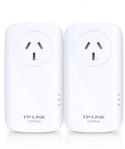 TL-PA8010PKIT-TP-Link TL-PA8010PKIT AV1200Gigabit Passthrough Powerline StarterKit1200MbpsHomePlug AV2 1x1Gbps LAN Power Socket Line-Neutral/Line-Ground 2×2MIMO(LS)