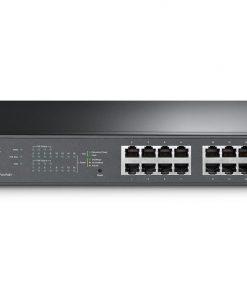 TL-SG1016PE-TP-Link TL-SG1016PE JetStream 16-Port Gigabit Desktop/Rackmount Switch with 8-Port PoE+ 32Gbps IEEE 802.3af/at Priority Function Mac Address