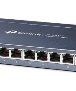 TL-SG116-TP-Link TL-SG116 16-Port Gigabit Unmanaged Desktop/Wall Mounting Switch 32Gbps Capacity 23.81Mpps 8K MAC 4.1Mb Buffer Fanless